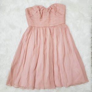 J.Crew Casual Sweetheart Strapless Mini Dress Pink